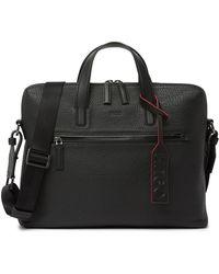 BOSS by Hugo Boss Victorian Leather Messenger Bag - Black