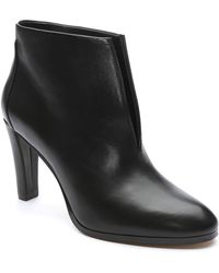 Tahari - Meredith Leather Notch Bootie - Lyst