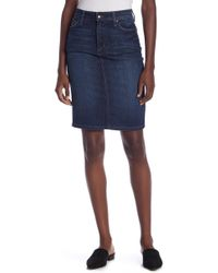 9332b09382 Joe's Jeans Collector's Edition High Low Pencil Jean Skirt In Wylie in Blue  - Lyst