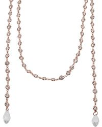CZ by Kenneth Jay Lane - Cz By The Yard Lariat Necklace - Lyst