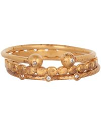 Dogeared - Perfect Diamond Stack Ring Set - Lyst