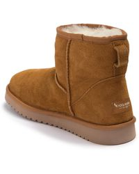 UGG Burra Mini Faux Fur Lined Boot - Brown