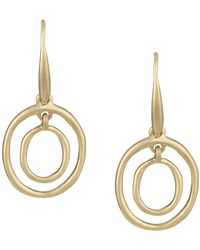 The Sak Mini Oval Orbit Dangle Earrings - Metallic