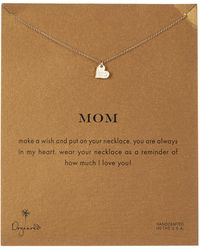 Dogeared | 18k Gold Plated Sterling Silver Mom Sparkle Heart Necklace | Lyst
