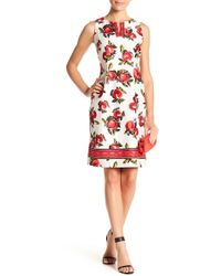 Chetta B - V-neck Floral Print Dress - Lyst