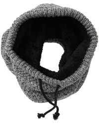 Bickley + Mitchell Fleece Lined Knit Snood - Gray