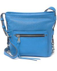 Aimee Kestenberg Misfit Perforated Leather Crossbody Bag In Sky Blue At Nordstrom Rack