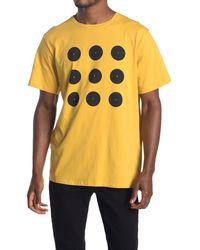 Saturdays NYC Round Grid Graphic T-shirt - Yellow