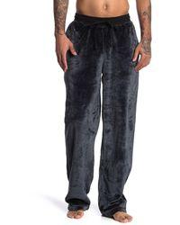 Daniel Buchler Plush Pyjama Pants - Black
