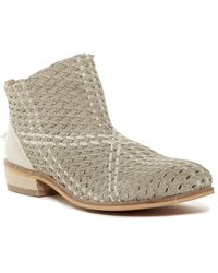 Rebels - Vico Woven Leather Bootie - Lyst