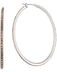 Lucky Brand - Pave Hoop Earrings - Lyst