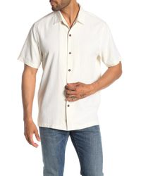 Tommy Bahama Bahama Reserve Short Sleeve Original Fit Silk Shirt - White