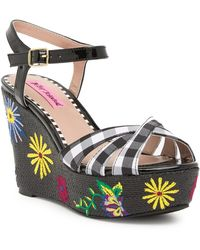 Betsey Johnson - Traci Platform Wedge Sandal - Lyst
