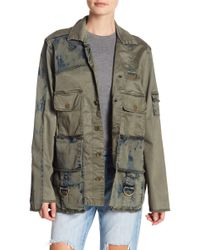 True Religion - Mixed Military Jacket - Lyst