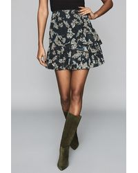 Reiss Lyon Ikat Print Skirt - Blue