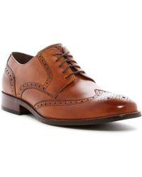 Cole Haan Benton Leather Cap Toe Derby Ii - Wide Width Available - Brown