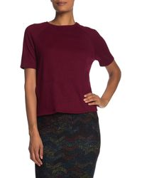 Go Couture Short Sleeve Knit Pullover - Red
