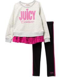 Juicy Couture Tulle Bottom Tunic & Leggings Set (baby Girls) - Pink