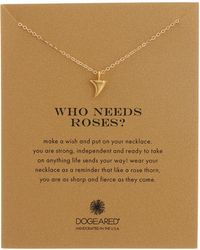 Dogeared - 14k Gold Vermeil Who Needs Roses? Thorn Charm Necklace - Lyst
