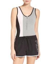Fila | Viviana Quarter Zip Bodysuit | Lyst