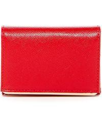 Halogen Leather Bar Cardholder - Red