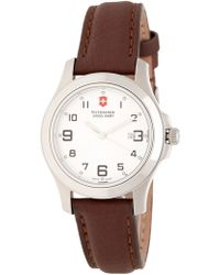 Victorinox - Men's Garrison Elegance Leather Strap Watch, 32mm - Lyst