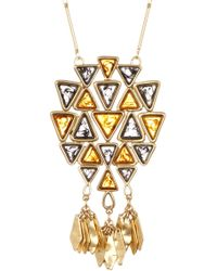 Tory Burch - Triangle Pendant Necklace - Lyst
