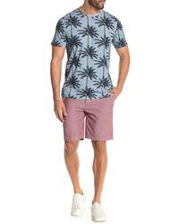 Wallin & Bros. Flat Front Chambray Shorts - Multicolor