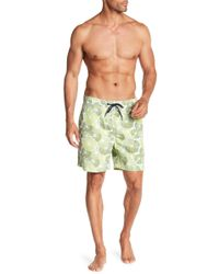 Tailor Vintage - Lily Pad Print Swim Volley Trunks - Lyst