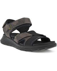 Ecco Exowrap Strap Sandal - Black