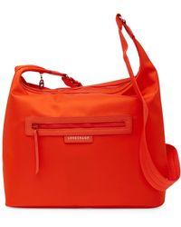 Longchamp - Le Pliage Nylon Hobo Crossbody Bag - Lyst