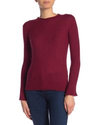 Joie Gestina Scallop Trim Sweater - Red