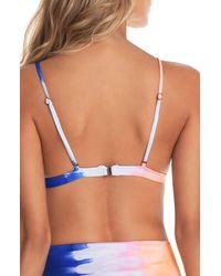 Maaji Magic Trick Elle Reversible Bikini Top - Blue