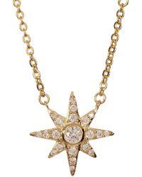 Melinda Maria - Pave Cz Starburst Pendant Necklace - Lyst