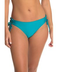 Ella Moss - Longline Lace-up Bikini Top - Lyst