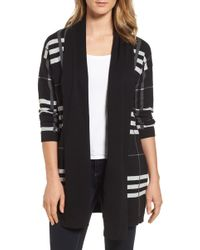 Chaus - Plaid Cotton Cardigan - Lyst