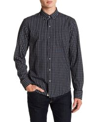 W.r.k. - Textured Check Reworked Long Sleeve Shirt - Lyst