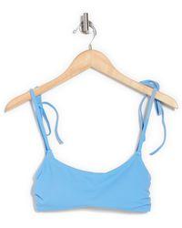 Chelsea28 Easy Retro Tie Strap Bikini Top - Blue