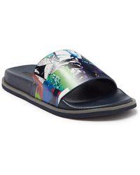 Robert Graham Archer Slide Sandal - Blue