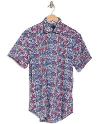 Robert Graham Bloomfield Short Sleeve Woven Shirt - Pink