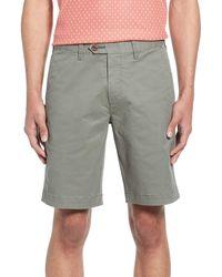 Ted Baker Selshor Slim Chino Shorts - Green