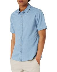 TOPMAN - Muscle Fit Denim Shirt - Lyst