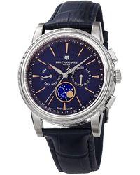 Bruno Magli Luna Piena Moonphase Embossed Leather Watch - Multicolor