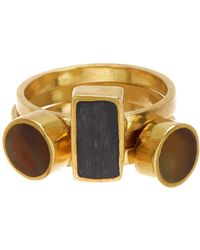 Soko - Solitaire Stacked Rings Set - Size 7 - Lyst