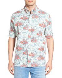 Reyn Spooner - 'a Ui Nalu' Trim Fit Print Sport Shirt - Lyst