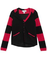 Joan Vass Long Sleeve Stripe Cardigan - Multicolor