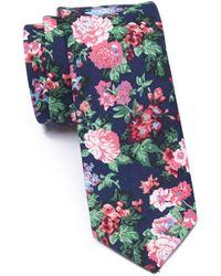 Original Penguin Agut Floral Tie - Blue