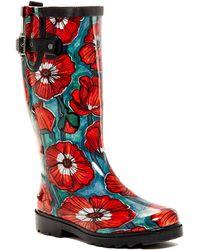 919522e068ec Chooka - Watercolor Poppy Waterproof Rain Boot - Lyst