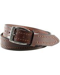 Trafalgar - Stitched Edge Belt - Lyst