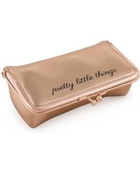 MIAMICA Bling It On! Kiss Lock Jewelry Roll - Rose Gold - Multicolor